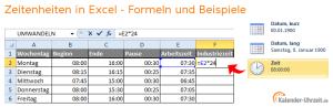 Zeiteinheiten in Excel umrechnen