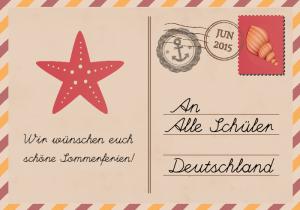 Postkarte in den Sommerferien 2015