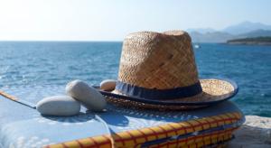 Sommerfeeling: Sonnenhut am Meer