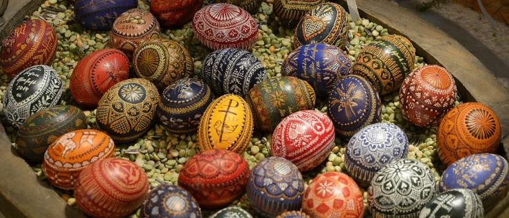 Sorbische Ostereier mit raffinierten Mustern