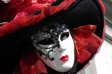 Karneval in Venedig: Maskierte Frau