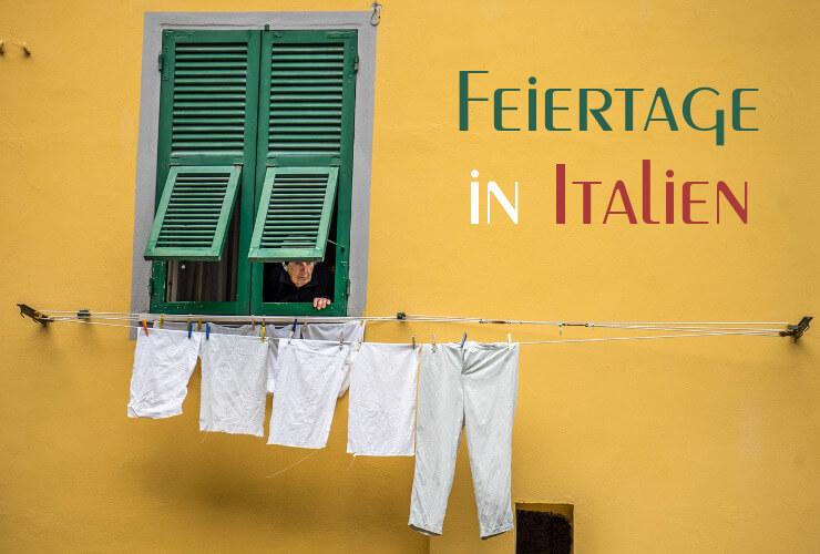 Italienischer Lebensstil: Fassade mit Wäschleine