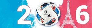 Fußball EM 2016 - stilisierte Frankreich-Flagge