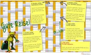 Reisevorbereitungen im Kalender