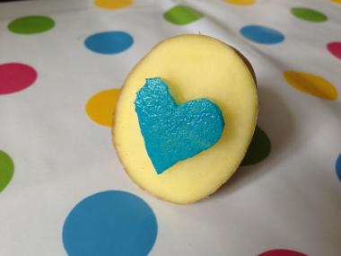 Kartoffel mit blauem Herz