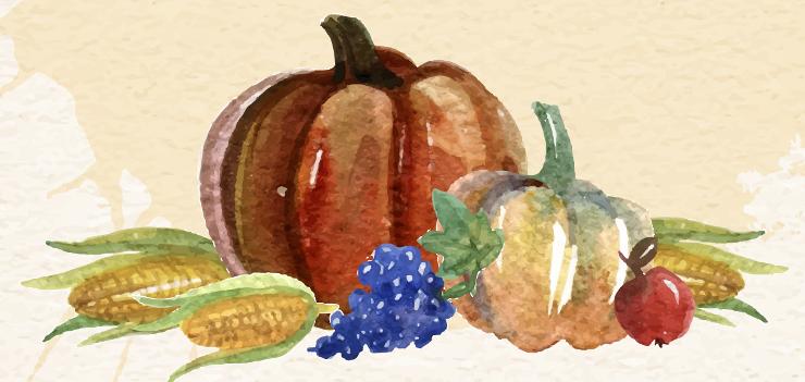 Obst und Gemüse als Erntegaben