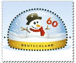 """60-Cent-Briefmarke """"Schneemann"""""""