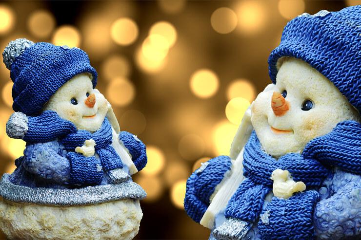 Putzige Schneemänner als Deko