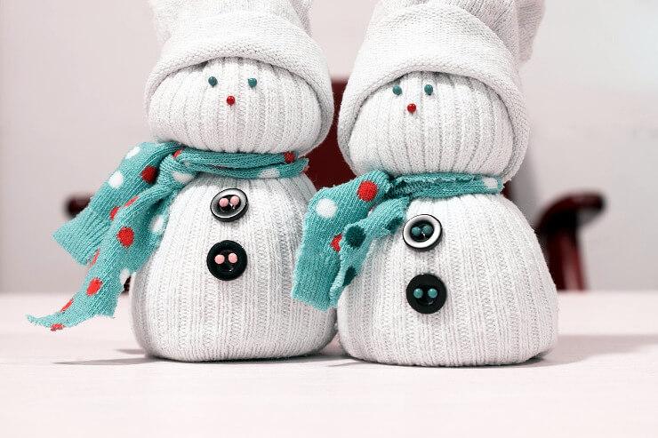 Selbstgemachte Schneemänner