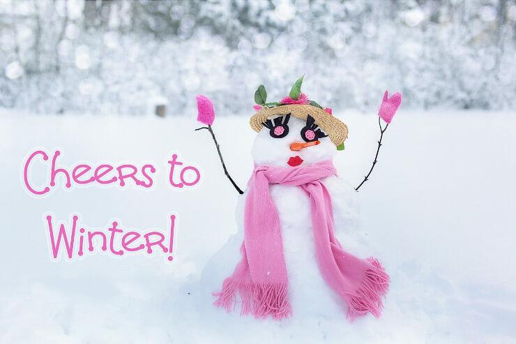 Welttag des Schneemanns mit Schneefrau