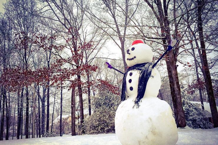 Freundlicher Schneemann
