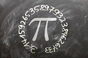 Die Kreis-Zahl Pi an der Tafel