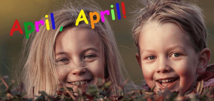 Lachende Kinder: April, April!