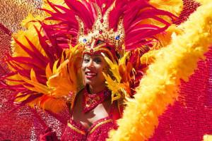 Tänzerin beim Karneval in Rio