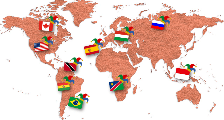 Karneval weltweit - närrischer Globus