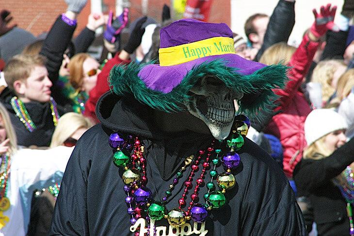 Teilnehmer am Mardi Gras in New Orleans