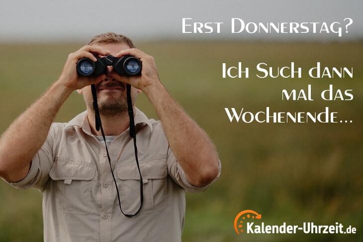Lustiger Spruch zum Donnerstag: Erst Donnerstag...