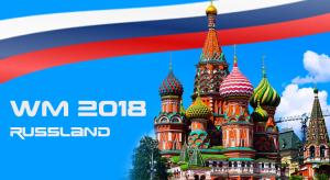 Roter Platz mit Russland-Fahne