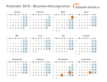 feiertage 2015 bosnien herzegowina kalender bersicht. Black Bedroom Furniture Sets. Home Design Ideas