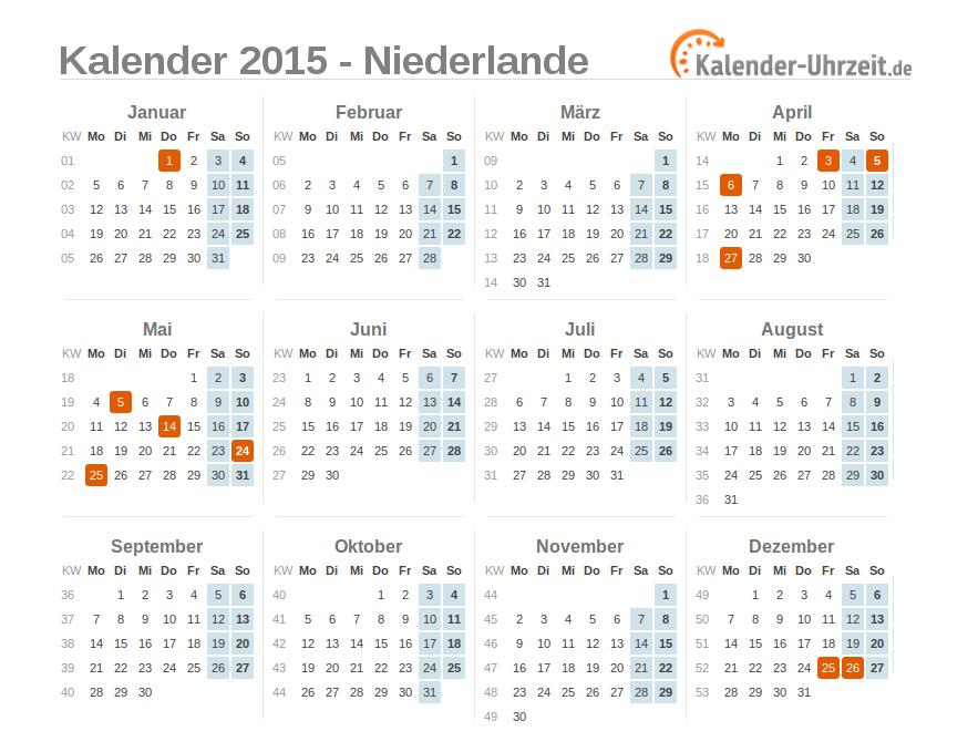 Feiertage 2019 Niederlande