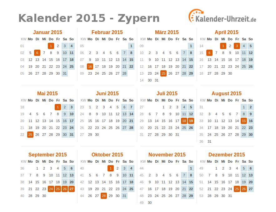 kalender uebersicht:
