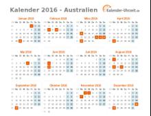 feiertage 2016 australien kalender bersicht. Black Bedroom Furniture Sets. Home Design Ideas