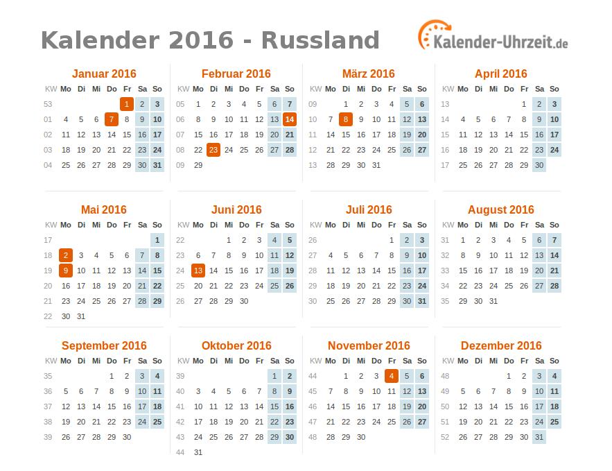 Kalender russland