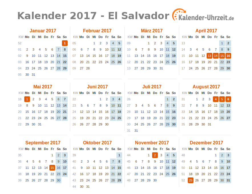 el salvador kalendar 2018 28 images 2018 calendar usa