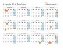 Kalender 2018 Rumänien mit Feiertagen
