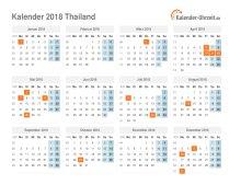 Kalender 2018 Thailand mit Feiertagen