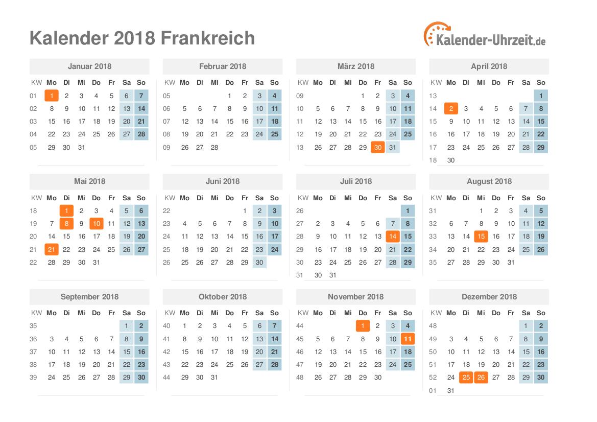 kalender 2019 frankreich