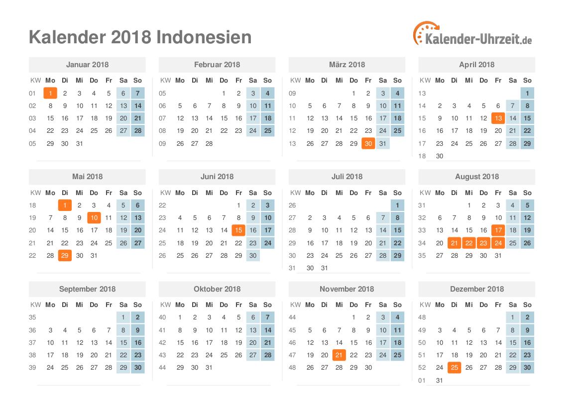 Kalendar 2018 Raya