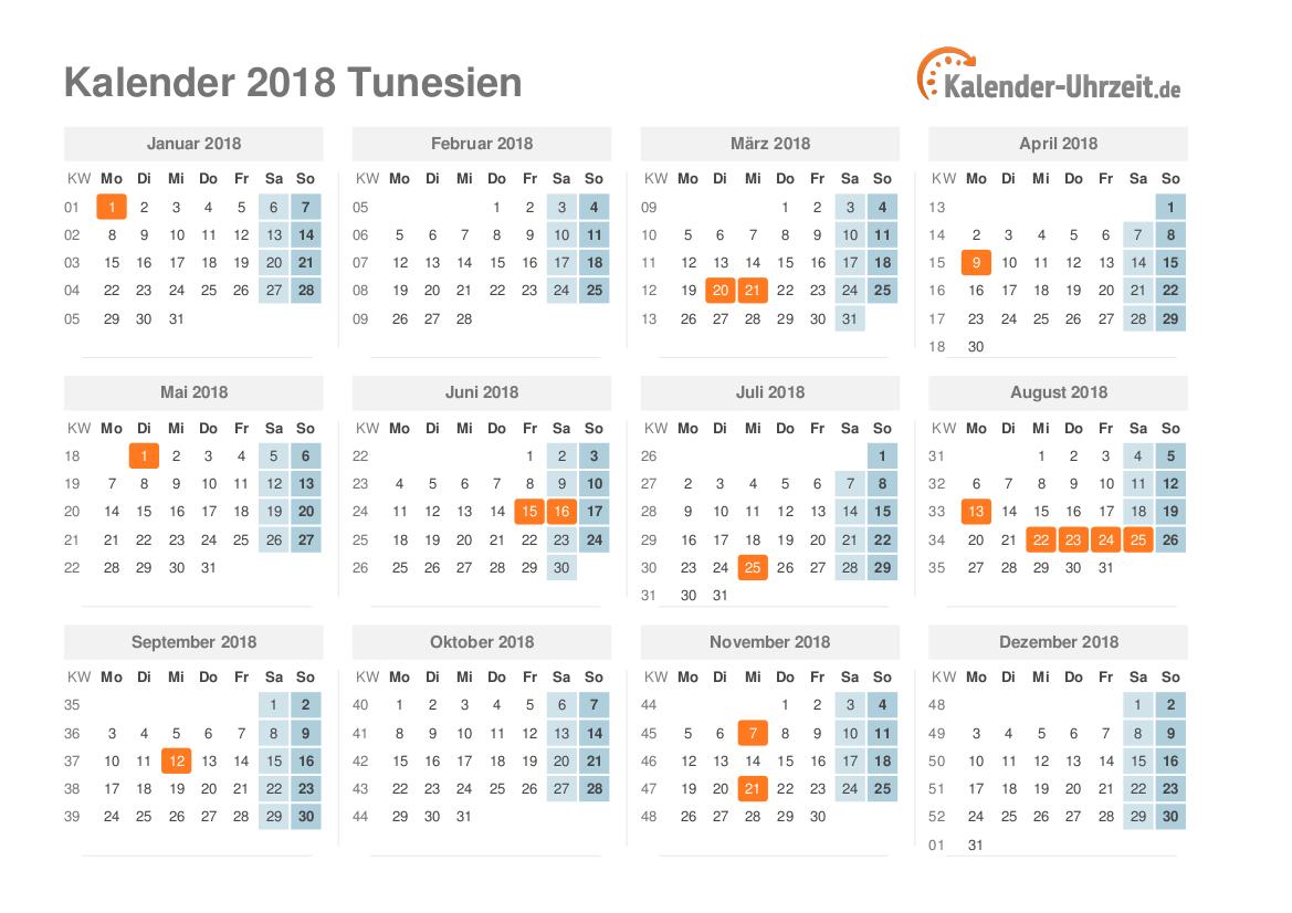 feiertage 2018 tunesien kalender bersicht. Black Bedroom Furniture Sets. Home Design Ideas