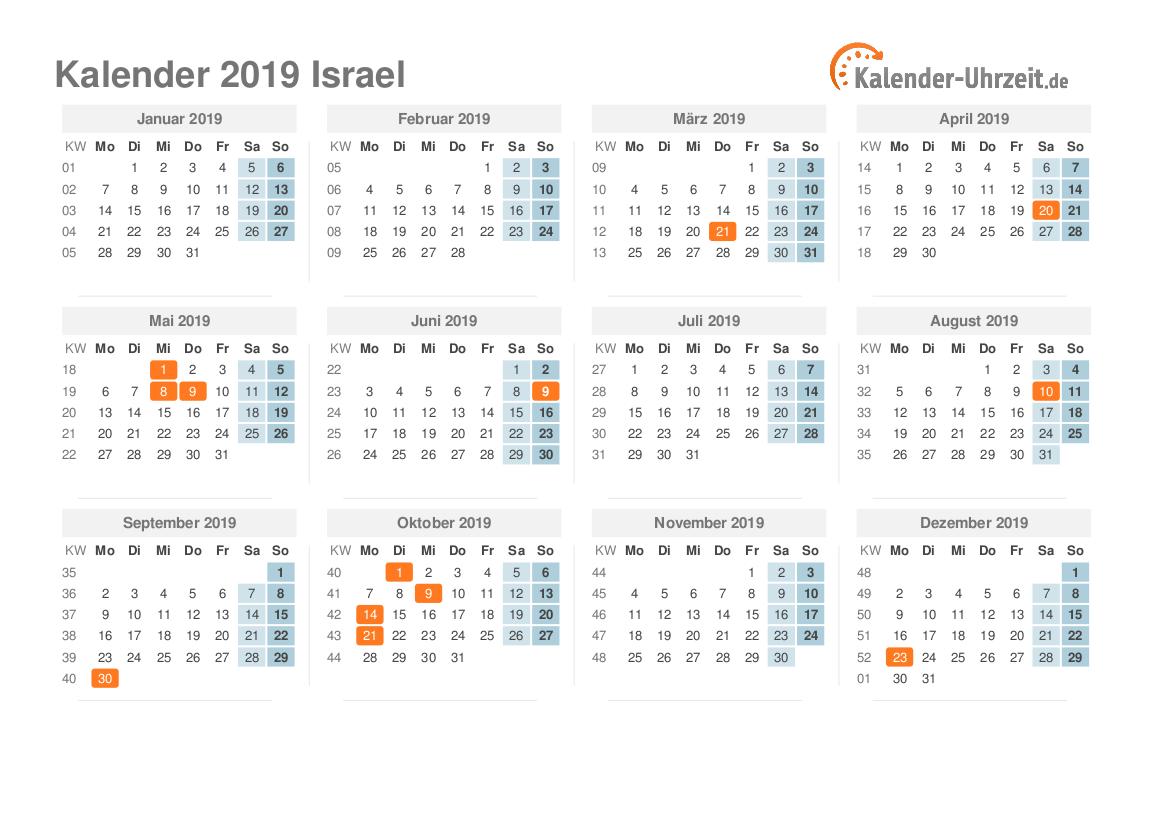 feiertage 2019 israel kalender bersicht. Black Bedroom Furniture Sets. Home Design Ideas