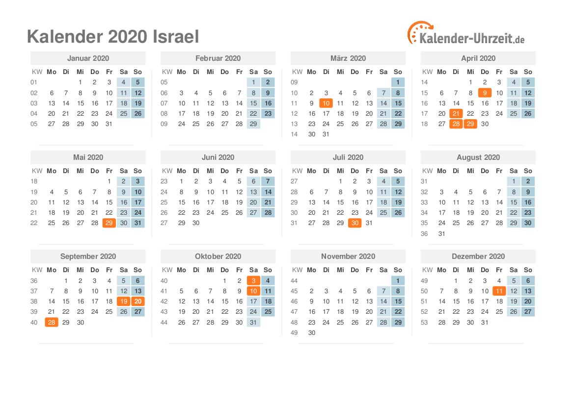 feiertage 2020 israel kalender bersicht. Black Bedroom Furniture Sets. Home Design Ideas