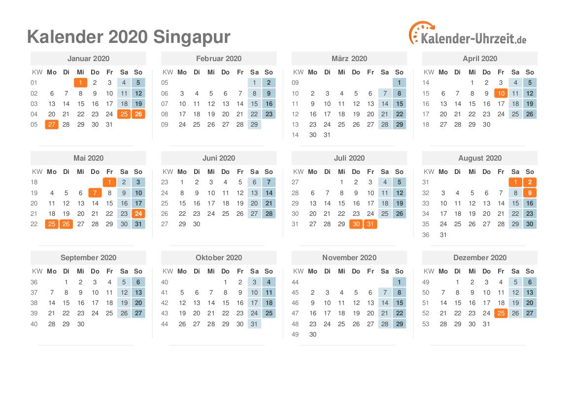Feiertage Singapur 2021
