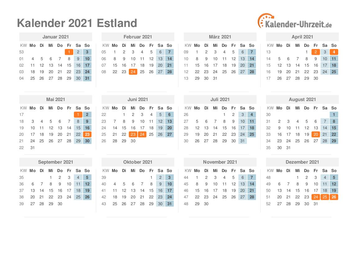 Estland Uhrzeit