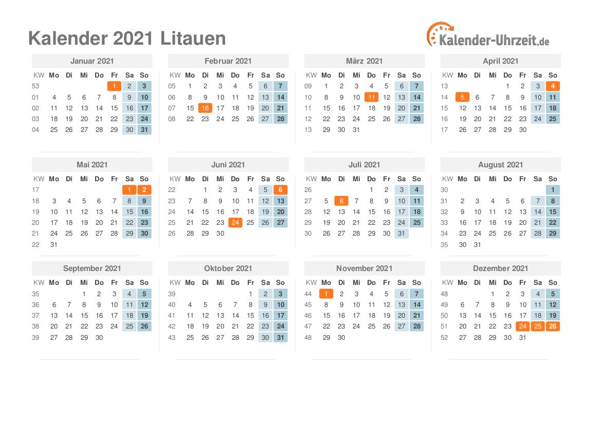Uhrzeit Litauen