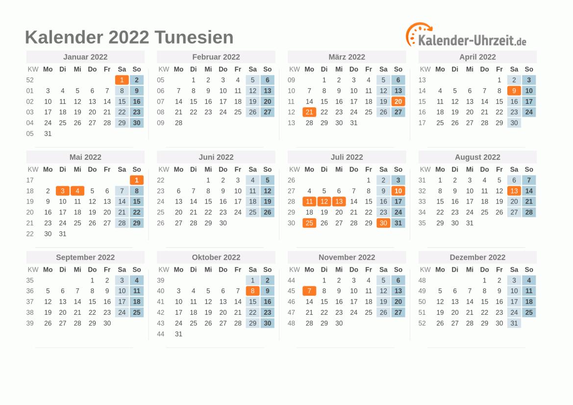 Tunesien Uhrzeit
