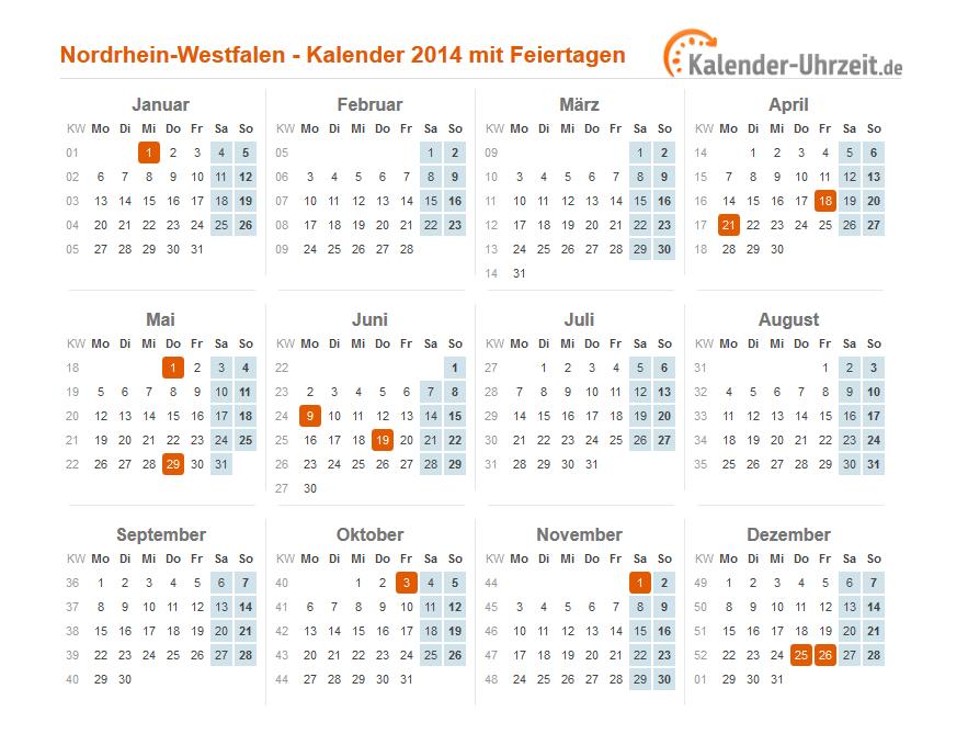 Nordrhein Westfalen Feiertage