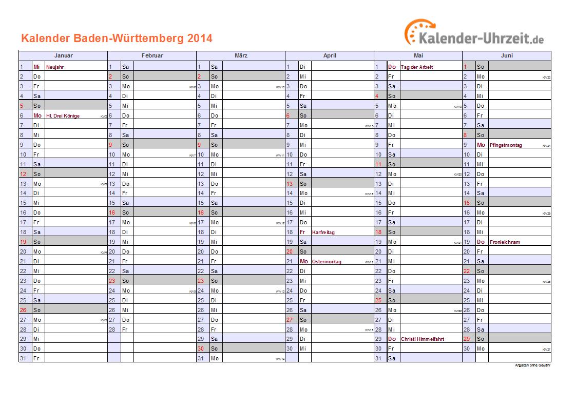 Feiertage 2014 Baden Württemberg Kalender