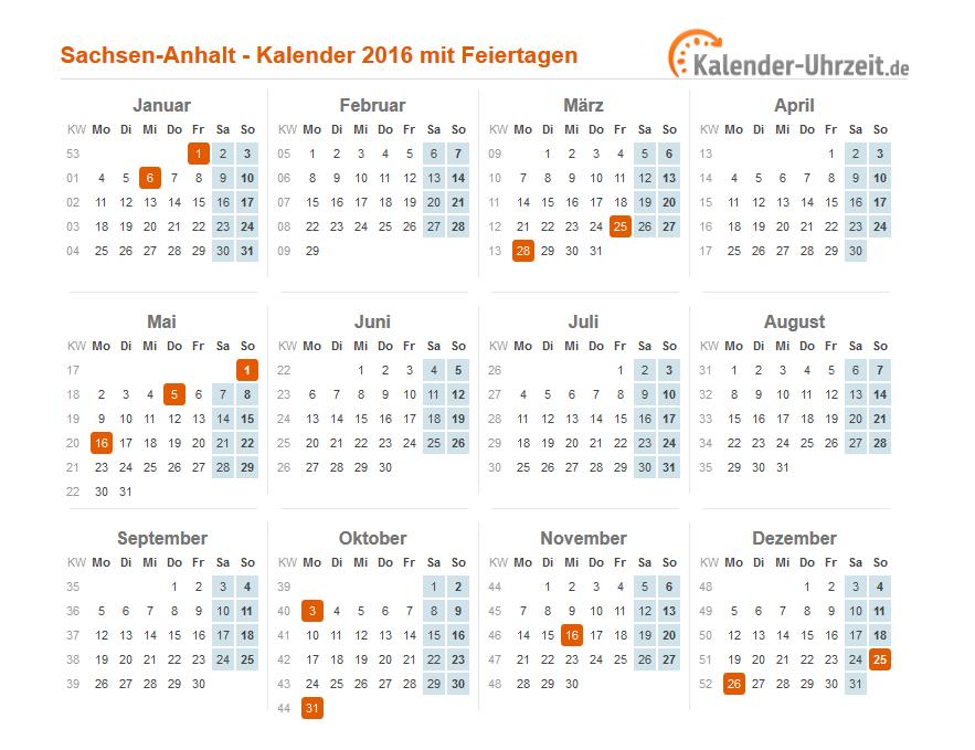 feiertage 2016 sachsen anhalt kalender. Black Bedroom Furniture Sets. Home Design Ideas