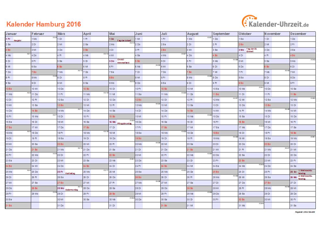 Feiertage 2016 hamburg kalender for Weihnachtsbaumverkauf hamburg 2016