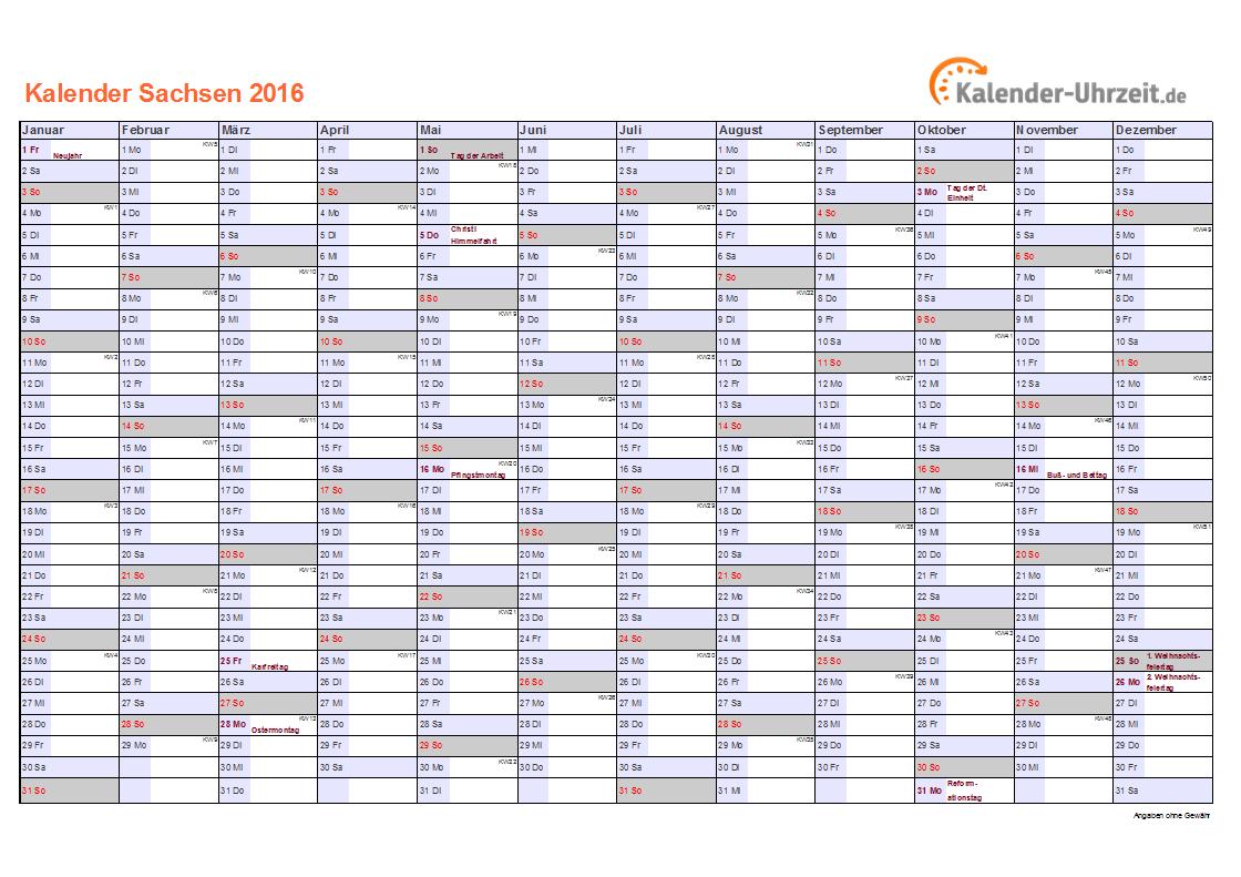 kalender 2016 sachsen