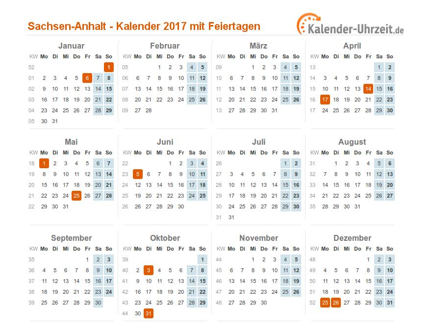 feiertage 2017 sachsen anhalt kalender. Black Bedroom Furniture Sets. Home Design Ideas