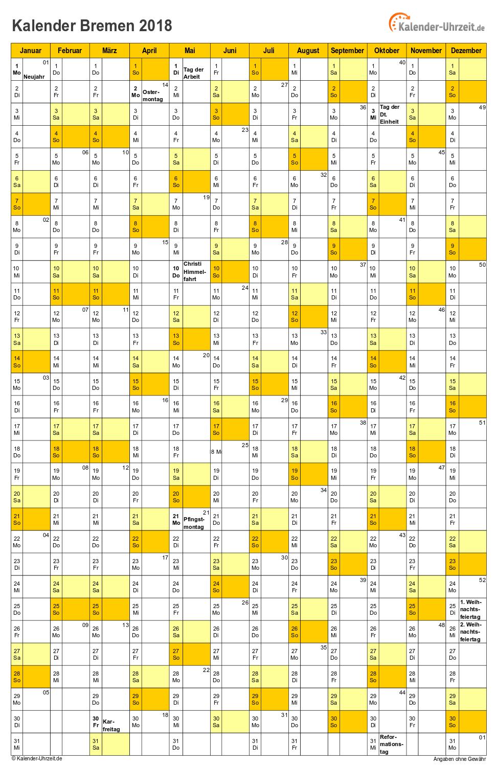 bremen kalender