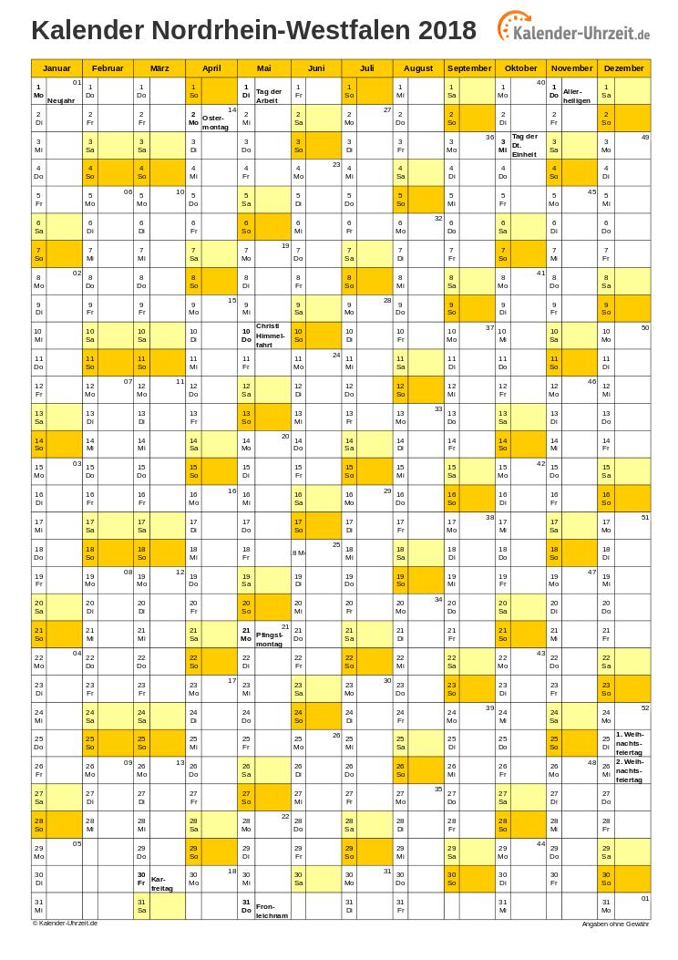 feiertage 2018 nordrhein westfalen kalender. Black Bedroom Furniture Sets. Home Design Ideas