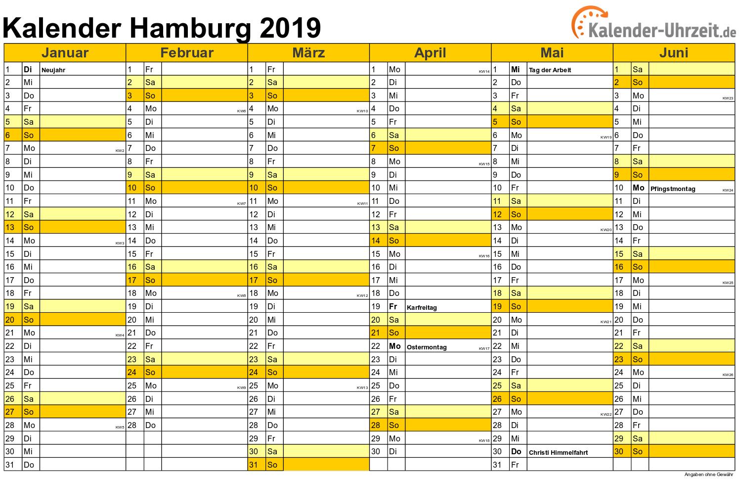 feiertage 2019 hamburg kalender. Black Bedroom Furniture Sets. Home Design Ideas