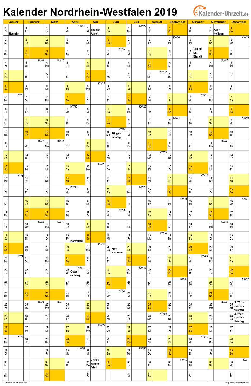 feiertage 2019 nordrhein westfalen kalender. Black Bedroom Furniture Sets. Home Design Ideas