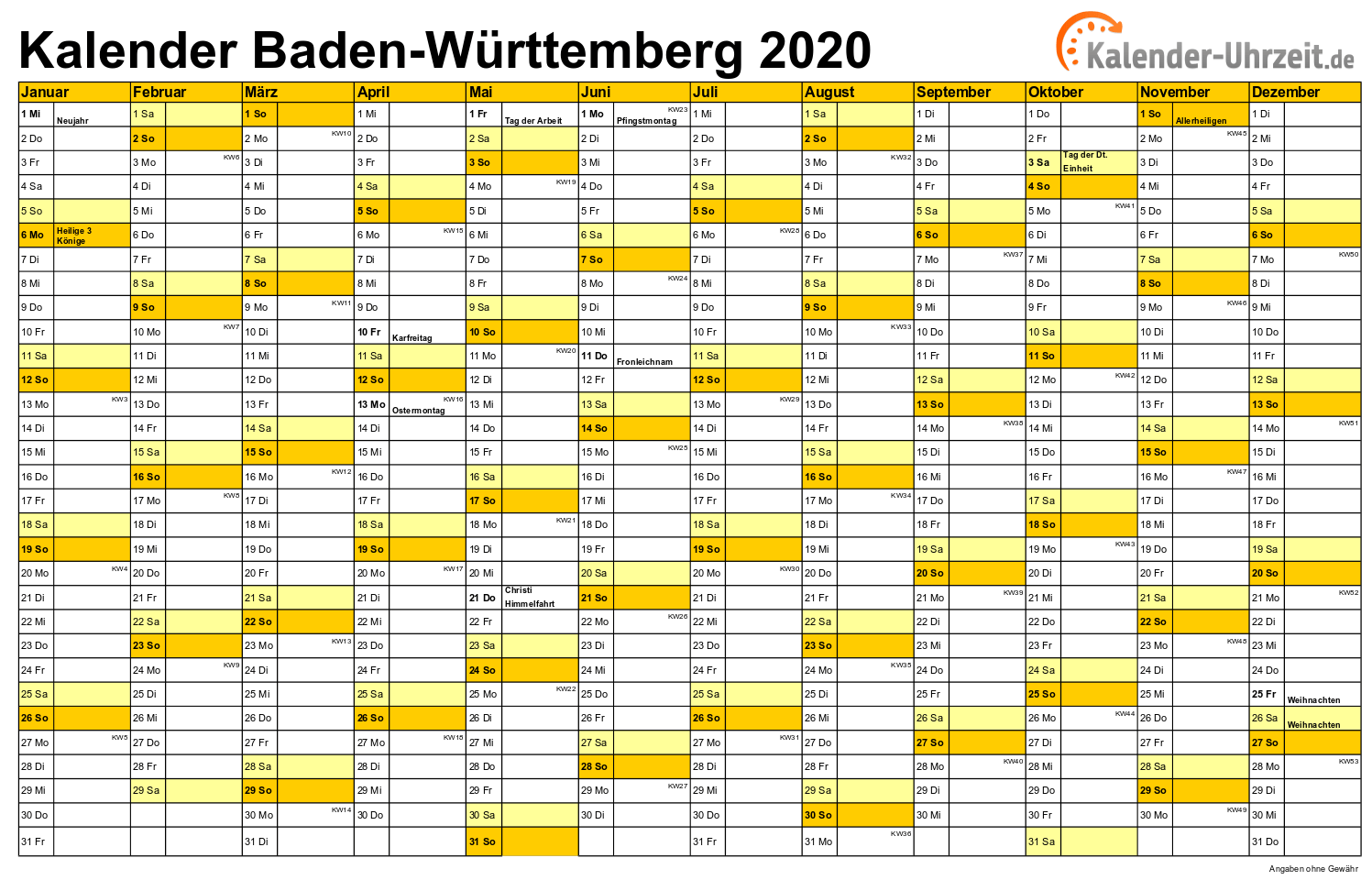 Feiertage Baden Wuerttemberg 2020